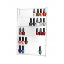 Nail Polish Stand Wall Mounted Clear