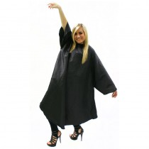 Hair Tools Sleeved Gown with Poppers Black