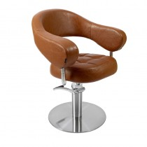 Lotus Corby Styling Chair Brown Round Base