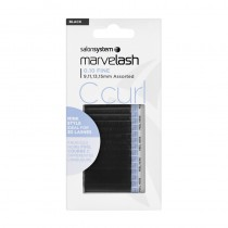 Marvelash C Curl Lashes 0.10 Fine Assorted Lengths Black x 2960 by Salon System