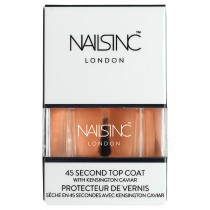 Nails Inc 45 Second Top Coat With Kensington Caviar Nail Polish 14ml