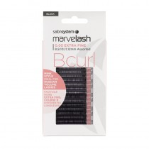 Marvelash B Curl Lashes 0.05 Ultra Fine Assorted Lengths Black x 9000 by Salon System
