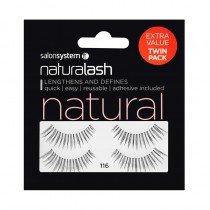 Salon System Naturalash Twin Pack Strip Eyelashes 116 Black