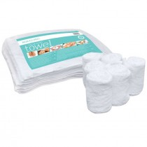BeautyPro Facial Wrap Towels WHITE 70 x 20cm (6pk)