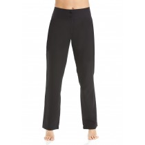 Straight Leg Trousers Black Long