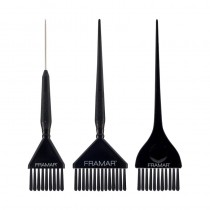 Framar Accusoft Brush Variety Set 3 Pack Black