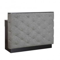 Lotus Apollo Reception Desk Grey Gloss