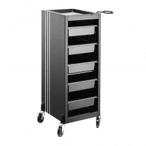 Lotus Linea 5 Drawer Trolley Black