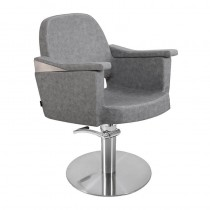 Lotus Duvall Grey Styling Chair With Round Base