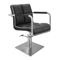 Lotus Caplan Black/White Styling Chair With Square Base
