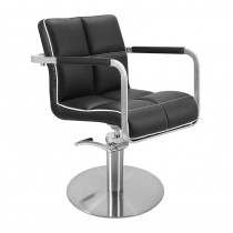 Lotus Caplan Black/White Styling Chair With Round Base