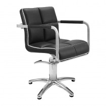 Lotus Caplan Black/White Styling Chair With Star Base