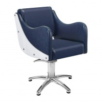 Lotus Senna Blue Styling Chair With Star Base