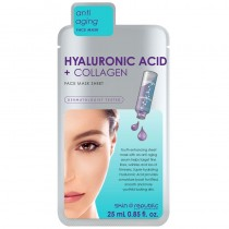 Skin Republic Hyaluronic Acid & Collagen Face Mask Sheet 25ml Pack of 10