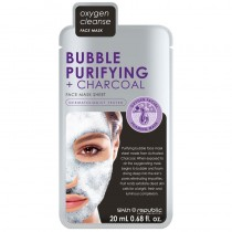 Skin Republic Bubble Purifying & Charcoal Face Mask Sheet 20ml