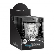 BARBER PRO Post Shave Cooling Mask Retail Display Case Box of 12