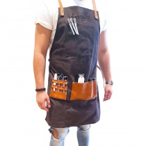 BARBER PRO Personalised Waxed Canvas Barber Apron