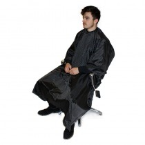 Hair Tools Mens Barber Pinstripe Gown Black