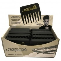 Jack Dean Pompadour Comb Box of 24 Black
