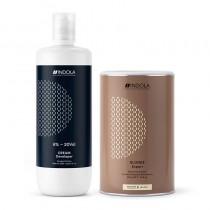Indola Blonde Expert Bleach 450g + Indola Cream Developer 2% 1 Litre Deal