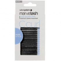 Marvelash C Curl Lashes 0.07 Extra Fine Assorted Lengths Black x 7500 by Salon System