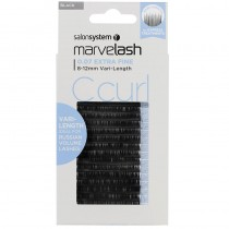 Marvelash C Curl Lashes 0.07 Extra Fine 8-12mm Vari-Length Black x 7840 by Salon System