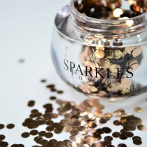 Sparkles London Rita Big & Chunky Rose Gold Face Glitter