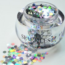 Sparkles London Miley Big & Chunky Holographic Silver Face Glitter