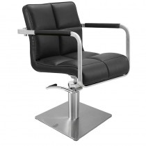 Lotus Caplan Black Styling Chair With Square Base