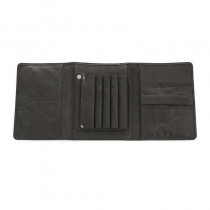 Muud Space Handcrafted Leather Scissor Clutch Black
