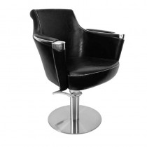 Lotus Barrett Styling Chair Black With Round Base