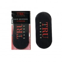 Tru Barber Hair Grippers Pack of 2 Black/Red