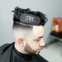 Tru Barber Hair Grippers Pack of 2 Black/White
