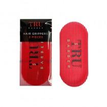 Tru Barber Hair Grippers Pack of 2 Red/Black