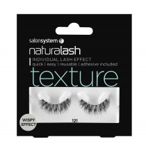 Salon System Naturalash 121 Black Texture Wispy Effect Strip Lashes