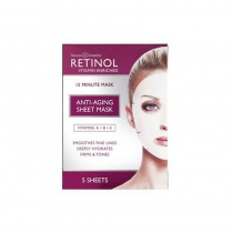 Retinol Anti Ageing Sheet Mask Pack of 5