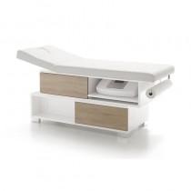Vismara Swing Massage Bed In White Gloss With Bardolino Oak