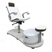 Vismara Mini Island Evo Pedicure Chair With Raised Support In White Larch
