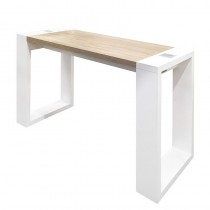 Vismara Living Table Without Aspirator In Matte White With Bardolino Oak