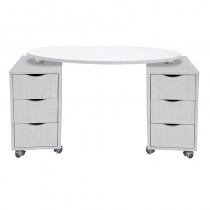 Vismara Brio Nail Table Without Aspirator In White Larch