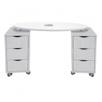 Vismara Brio Nail Table With Aspirator In White Larch