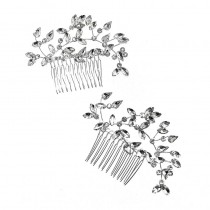 Ulyana Aster Amilia Hair Comb Silver Pack of 2