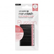 Marvelash Russian 0.07 Double Layer Assorted Lengths Black by Salon System