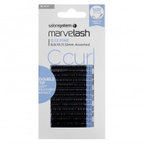 Marvelash C Curl Lashes 0.12 Double Tip Ellipse Assorted Lengths Black by Salon System