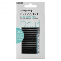 Marvelash D Curl 0.07 Extra Fine Assorted Lengths Black by Salon System