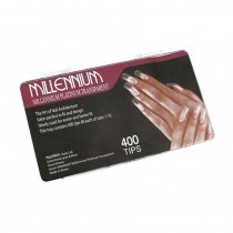 Millennium Platinum Transparent Tips Box of 400
