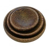 Set of 3 Resin Bowls Brown