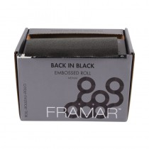 Framar Back In Black Embossed Foil Roll Medium (13cm x 98m)