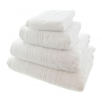 Opulence Luxury White Face Towel 30 x 30cm