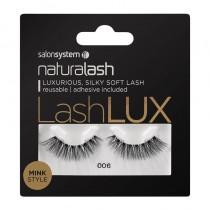 Salon System Naturalash Lashlux 006 Black Mink Style Strip Lashes